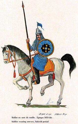 Iranian Military Uniforms Pictorial History 17_ Safavid Persian (4)