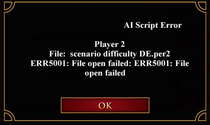 AI Script Error