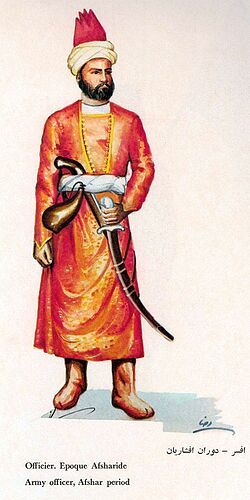 Iranian Military Uniforms Pictorial History 18_ Afsharid Persian (6)