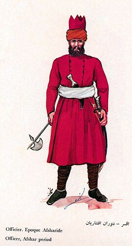 Iranian Military Uniforms Pictorial History 18_ Afsharid Persian (4)