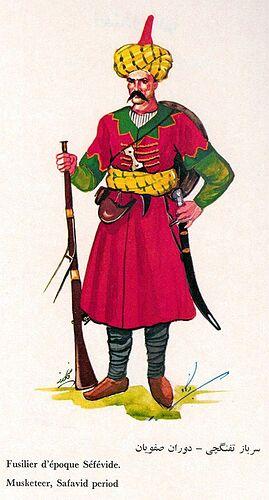Iranian Military Uniforms Pictorial History 17_ Safavid Persian (1)
