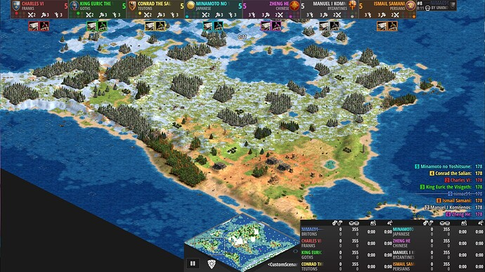 World Map Age of Empires 2 Definitive Edition North America