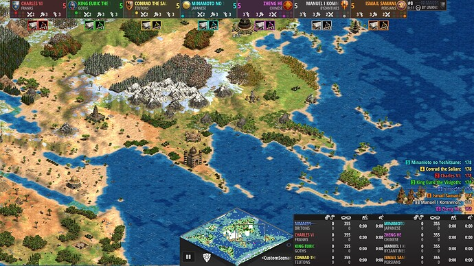 World Map Age of Empires 2 Definitive Edition Asia