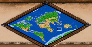 World Map Age of Empires 2 Definitive Edition TERAIN ONLY 350 x 350