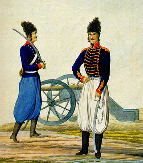 qajar-persian-imperial-artillery-soldier-and-artillery-officer-iran-late-18-early-19-century